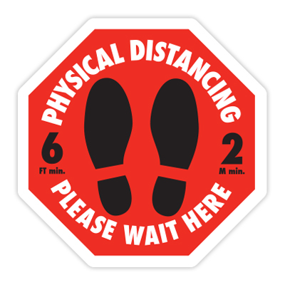 Social Distancing Floor Graphic COVID-19 Distancing Sign