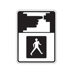 PEDESTRIAN MUST PUSH BUTTON TO RECEIVE WALK SIGNAL Symbol Sign