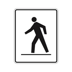 RIGHT SIDE PREDESTRIAN CROSSWALK Traffic Sign