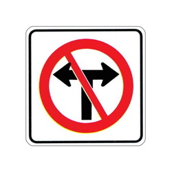 NO TURNS Traffic Sign