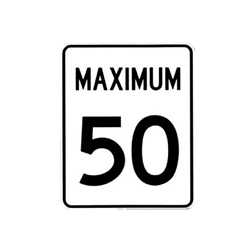 MAXIMUM SPEED Traffic Sign