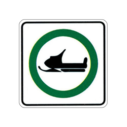 SNOWMOBILE ROUTE Traffic Sign