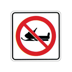 NO SNOWMOBILES Traffic Sign