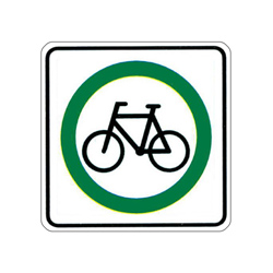 BICYCLE ROUTE Traffic Sign
