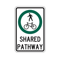 SHARED PATHWAY SIGN Traffic Sign