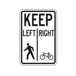 PATHWAY ORGANIZATION SIGN (Bikes Left, Ped. Right) Traffic Sign