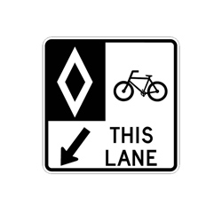 RESERVED BICYCLE LANE Traffic Sign