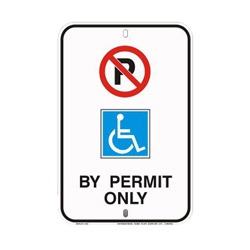 DISABLED PARKING PERMIT Traffic Sign