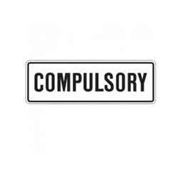 COMPULSORY Tab Traffic Sign