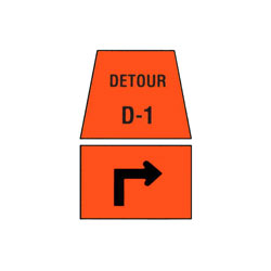DETOUR MARKER - Right Advance Turn Traffic Sign