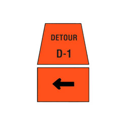 DETOUR MARKER - Left Turn Traffic Sign