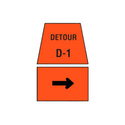 DETOUR MARKER - Right Turn Traffic Sign