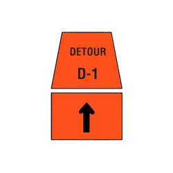 DETOUR MARKER - Through Traffic Sign