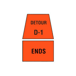 DETOUR MARKER - Ends Traffic Sign