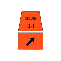 DETOUR MARKER - Right Turn Channelization Traffic Sign