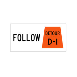 DETOUR DESIGNATION TAB Traffic Sign