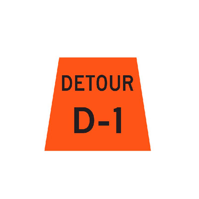 DETOUR MARKER Traffic Sign