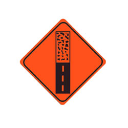 PAVEMENT ENDS Traffic Sign