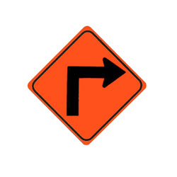 TURN (Right) Traffic Sign