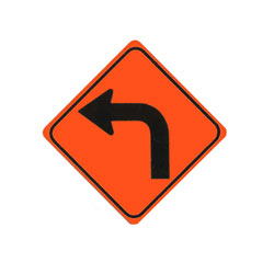 SHARP CURVE (Left) Traffic Sign