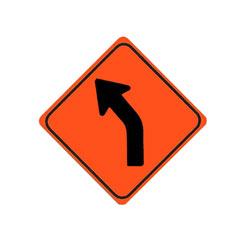 CURVE (Left) Traffic Sign