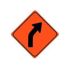 CURVE (right) Traffic Sign
