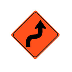 SHARP REVERSE CURVE (Right) Traffic Sign