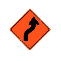 REVERSE CURVE (Right, one arrow) Traffic Sign