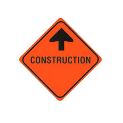 CONSTRUCTION AHEAD Traffic Sign