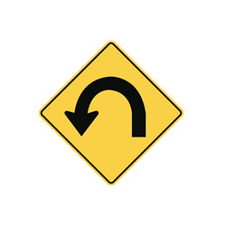180 degree Curve Traffic Sign