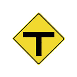 T-INTERSECTION Traffic Sign