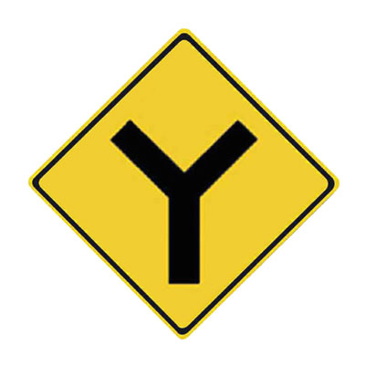 Y-INTERSECTION Traffic Sign