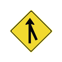 MERGE Traffic Sign