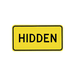 HIDDEN INTERSECTION Tab Traffic Sign