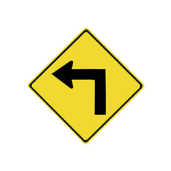 TURN Traffic Sign (Left)