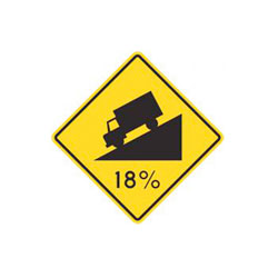 STEEP HILL Traffic Sign
