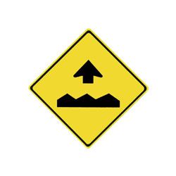 BUMP AHEAD Traffic Sign