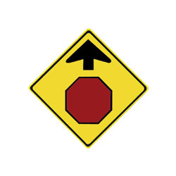 STOP AHEAD Traffic Sign