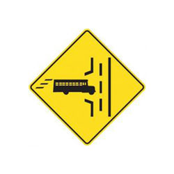 SCHOOL BUS ENTRANCE Traffic Sign (Left)