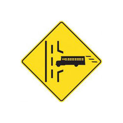 SCHOOL BUS ENTRANCE Traffic Sign (Right)