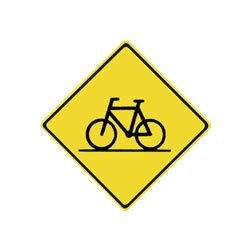 BICYCLE CROSSING AHEAD Traffic Sign