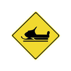 SNOWMOBILE CROSSING Traffic Sign