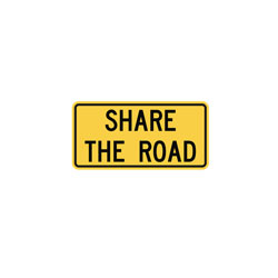 SHARE THE ROAD Tab Traffic Sign