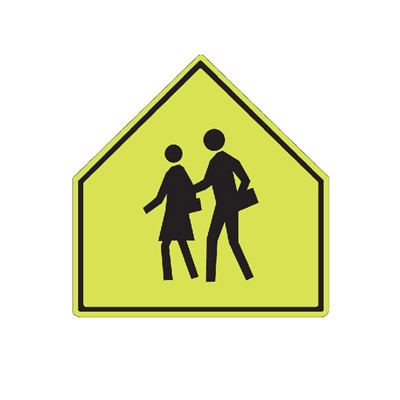 SCHOOL AREA Traffic Sign