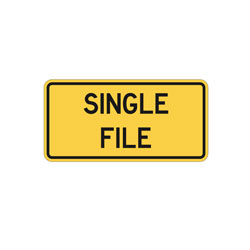 SHARED USE LANE SINGLE FILE Tab Traffic Sign