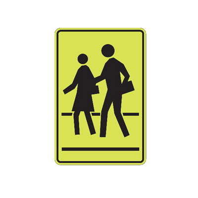 SCHOOL CROSSING Traffic Sign