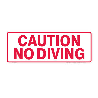 Caution - No Diving By-Law Sign