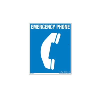 Emergency Phone By-Law Sign