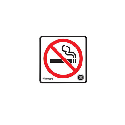 No smoking Decal By-Law Sign