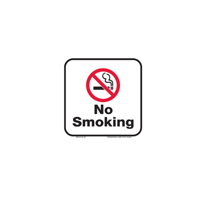 No Smoking Sign By-Law Sign